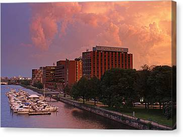 Stormy Boston Canvas Print by Juergen Roth