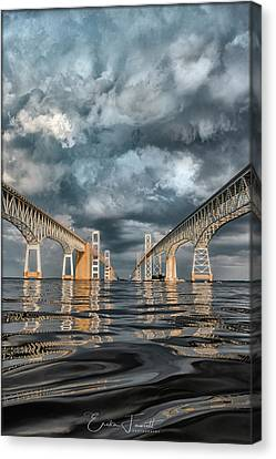 Stormy Chesapeake Bay Bridge Canvas Print