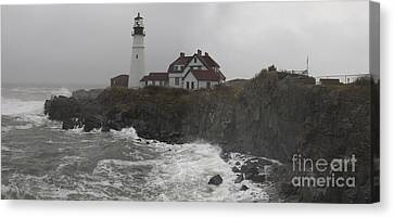 Canvas Print featuring the photograph Stormy Coast by David Bishop