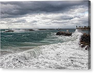 Canvas Print featuring the photograph Stormy Day On Redondo by Michael Hope