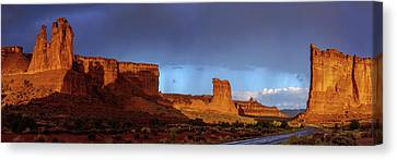 Canvas Print featuring the photograph Stormy Desert by Chad Dutson