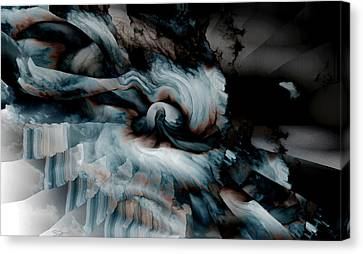 Stormy Emotions Canvas Print by Abstract Angel Artist Stephen K