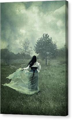 Gloomy Canvas Print - Stormy Fields by Cambion Art