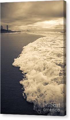 Stormy Gold Coast Beachfront Canvas Print by Jorgo Photography - Wall Art Gallery
