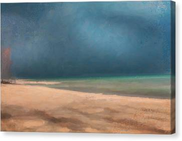 Stormy Lake Huron 2 Canvas Print by Chamira Young