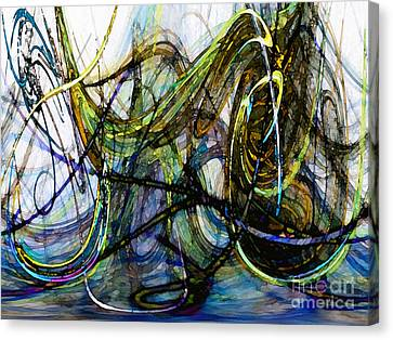 Abstract Expressionism Canvas Print - Stormy Monday Blues by Karin Kuhlmann