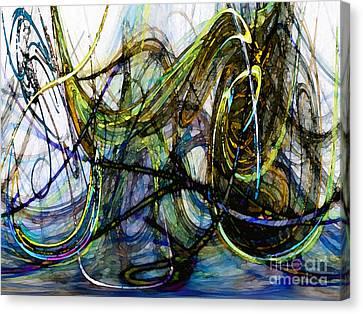 Contemplative Canvas Print - Stormy Monday Blues by Karin Kuhlmann