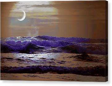 Canvas Print featuring the photograph Stormy Night by Aaron Berg