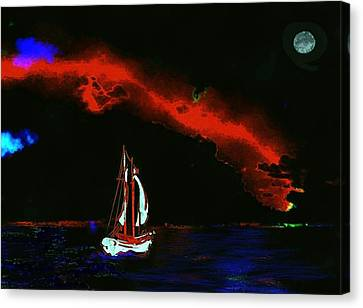 Stormy Night Canvas Print by Mimo Krouzian