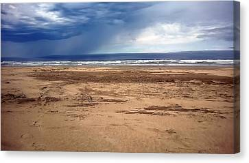Stormy Nye Beach Canvas Print by Jerry Sodorff