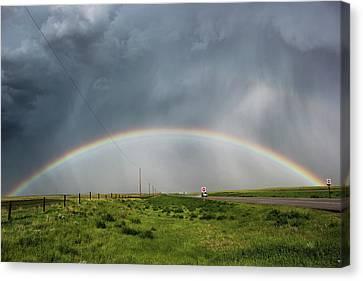 Stormy Rainbow Canvas Print