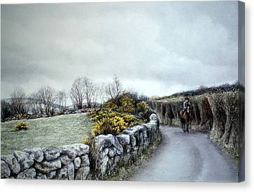 Stormy Ride On The Moor Canvas Print