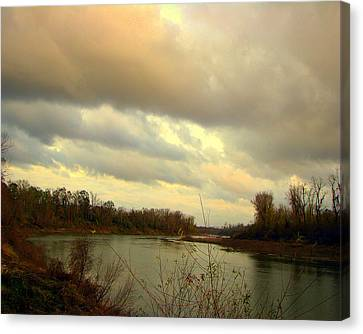 Stormy River Canvas Print by Dottie Dees