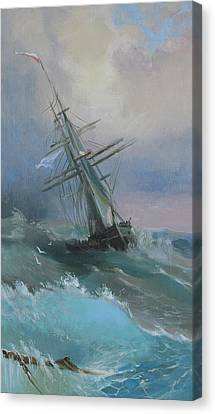 Stormy Sails Canvas Print by Ilya Kondrashov