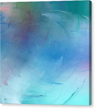 Stormy Seas Aqua Canvas Print