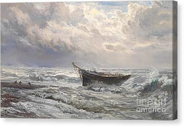 Stormy Seas Canvas Print by Henry Moore