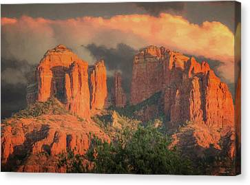 Stormy Sedona Sunset Canvas Print