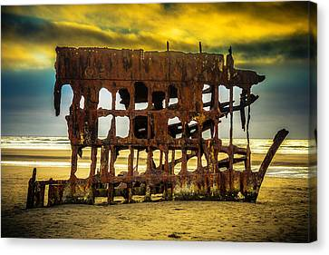 Fort Stevens State Park Canvas Print - Stormy Shipwreck by Garry Gay