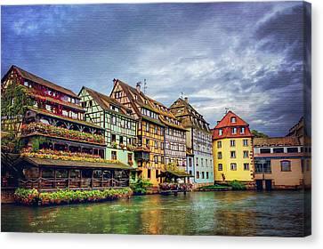 Stormy Skies In Strasbourg Canvas Print by Carol Japp