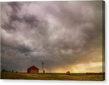 Stormy Skies On The Colorado Plains Canvas Print by James BO Insogna