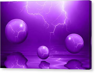 Stormy Skies - Purple Canvas Print by Shane Bechler