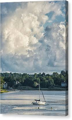 Stormy Sunday Morning On The Navesink River Canvas Print