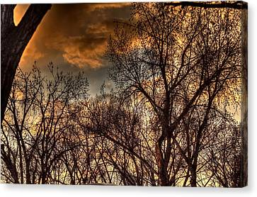 Stormy Sunset 14151 Canvas Print by Jerry Sodorff
