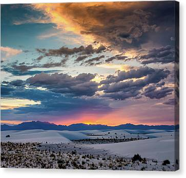 Stormy Sunset 5x6 Canvas Print by James Barber