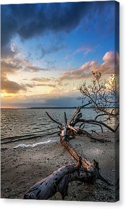 Canvas Print featuring the photograph Stormy Sunset by Marvin Spates