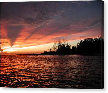 Canvas Print featuring the photograph Stormy Sunset by Nancy Taylor