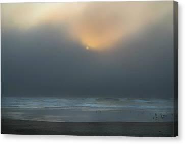 Canvas Print featuring the photograph Stormy Sunset Oregon Coast by Yulia Kazansky