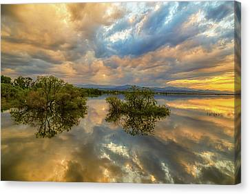 Stormy Sunset Reflections Canvas Print