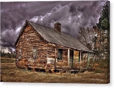 Canvas Print featuring the photograph Stormy Times Tenant House Greene County Georgia Art by Reid Callaway
