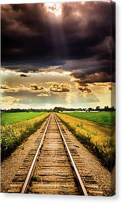 Stormy Tracks Canvas Print