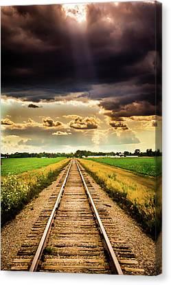 Stormy Tracks Canvas Print