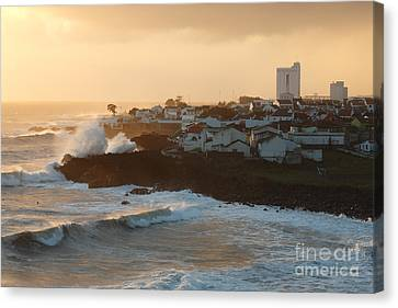 Stormy Weather In Azores Canvas Print by Gaspar Avila