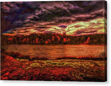 Canvas Print featuring the photograph Stormy Weather by John M Bailey