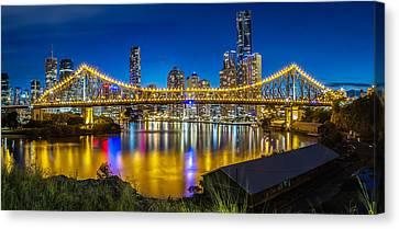 Story Bridge- Brisbane Queensland Canvas Print by Mark Lucey