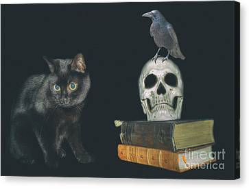 Ghost Story Canvas Print - Story Teller's Night by Nigel Bangert