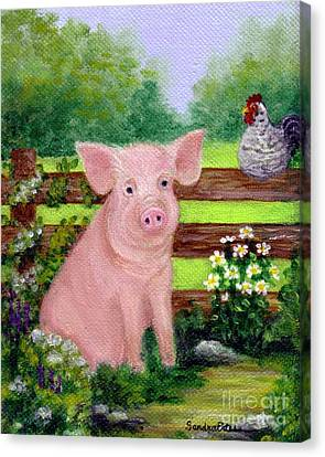 Storybook Pig Canvas Print