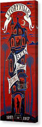 Storyville Red Light District Canvas Print