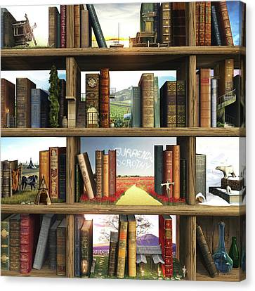 Books Canvas Print - Storyworld by Cynthia Decker