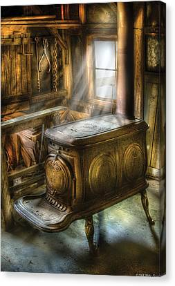 Stove - A Warm Cozy Stove Canvas Print by Mike Savad
