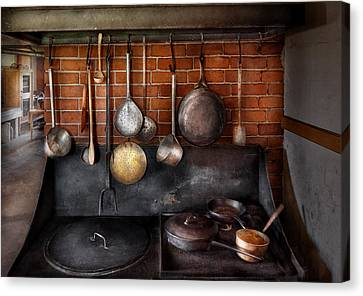 Stove - The Gourmet Chef  Canvas Print by Mike Savad