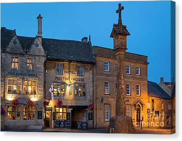 Canvas Print featuring the photograph Stow On The Wold - Twilight by Brian Jannsen