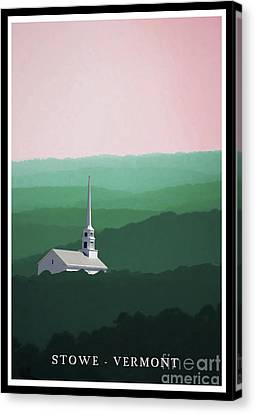 Stowe Vermont Summer Poster Canvas Print by Edward Fielding