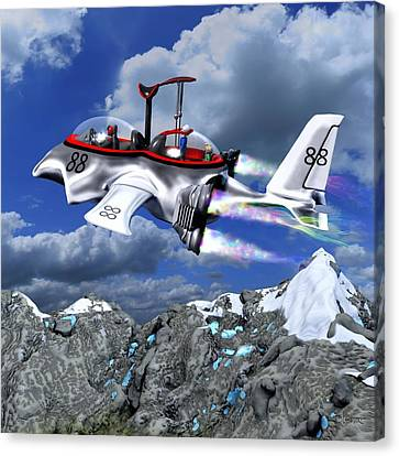 Stowing The Lift Canvas Print by Dave Luebbert