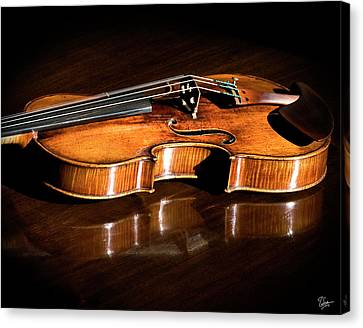 Canvas Print featuring the photograph Stradivarius In Sunlight by Endre Balogh