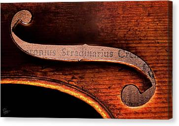 Canvas Print featuring the photograph Stradivarius Label by Endre Balogh