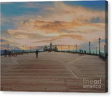Straight Down The Pier  Canvas Print
